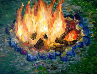 Fire by Popijawka