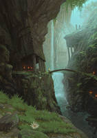 Gaen Vale - Waterfall Area by JonathanKirtz