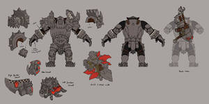 Black Orc Armor Model Layouts
