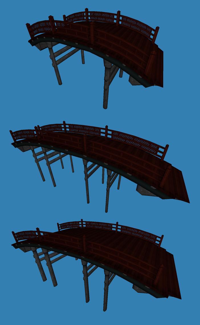 japanese style bridge by metalraptor