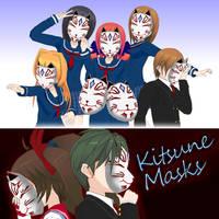 Kitsune Masks - ComiPo! by Metalraptor