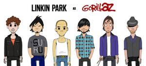 Linkin Park as Gorillaz