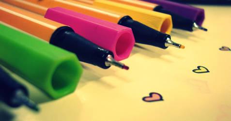 heart pens by vikii0black