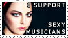 Sexy Musicians Stamp - AL by Giggle-Monster