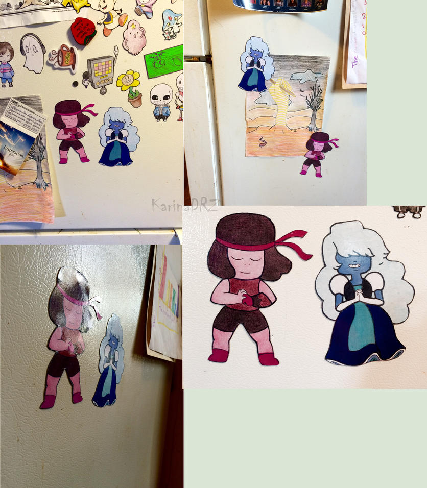 Ruby and Sapphire Magnet Set by KarinaDRZ