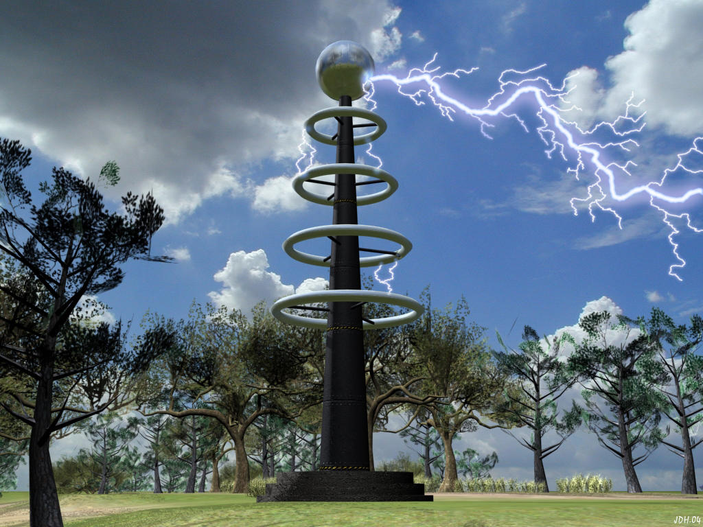 Tesla Coil by Aircraft...