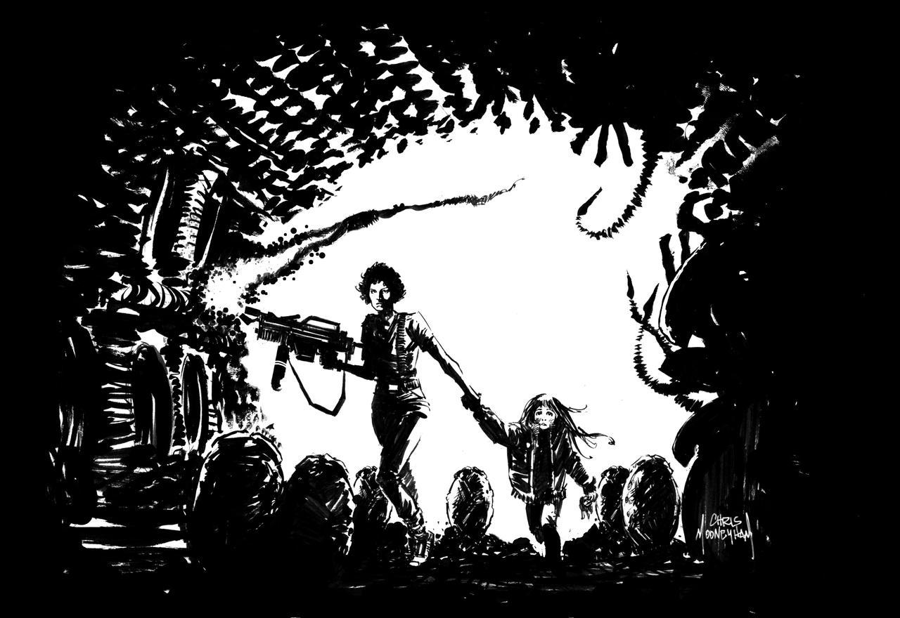Aliens by Mooneyham