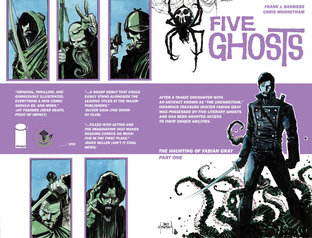 Five Ghosts #1 Cover ECCC Exclusive by Mooneyham