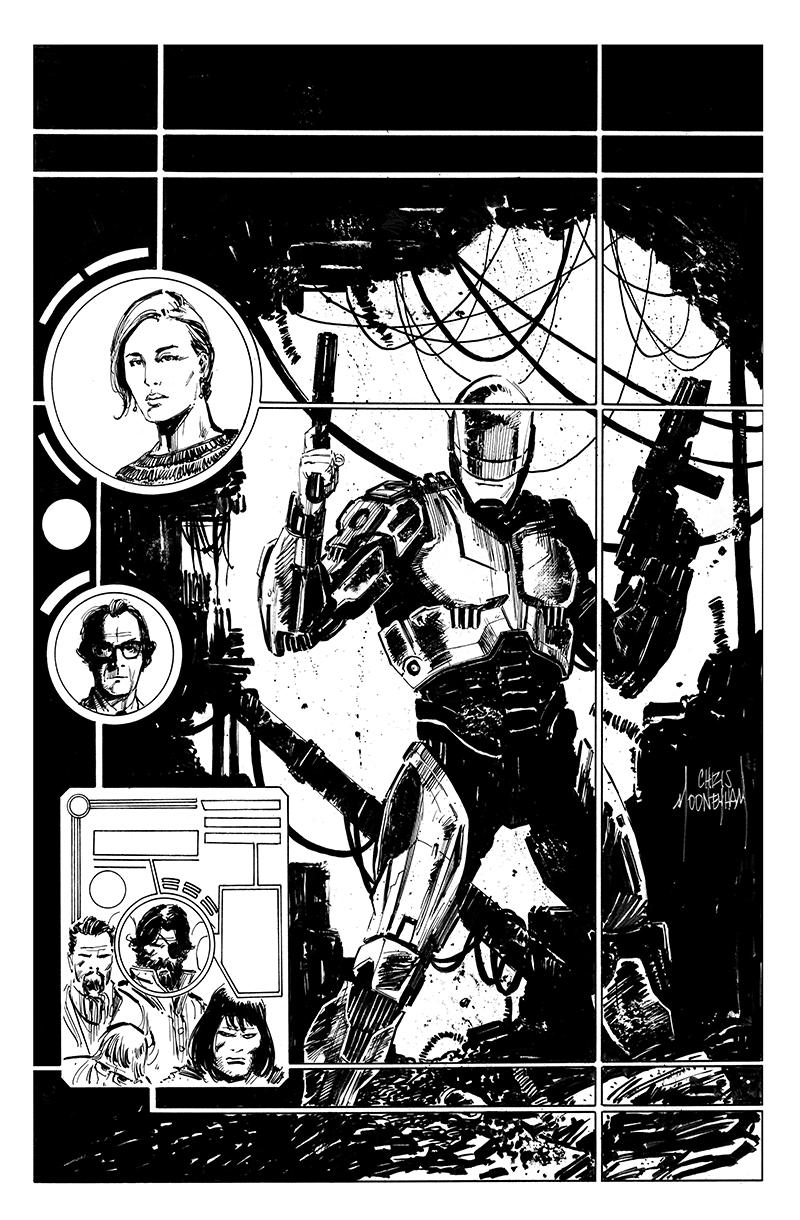 RoboCop Cover inks by Mooneyham