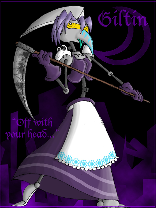 Recyclers Wear Purple: Giltin the Scythe by KD476