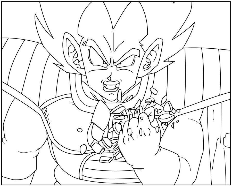 Kid vegeta free coloring pages for Vegeta coloring pages