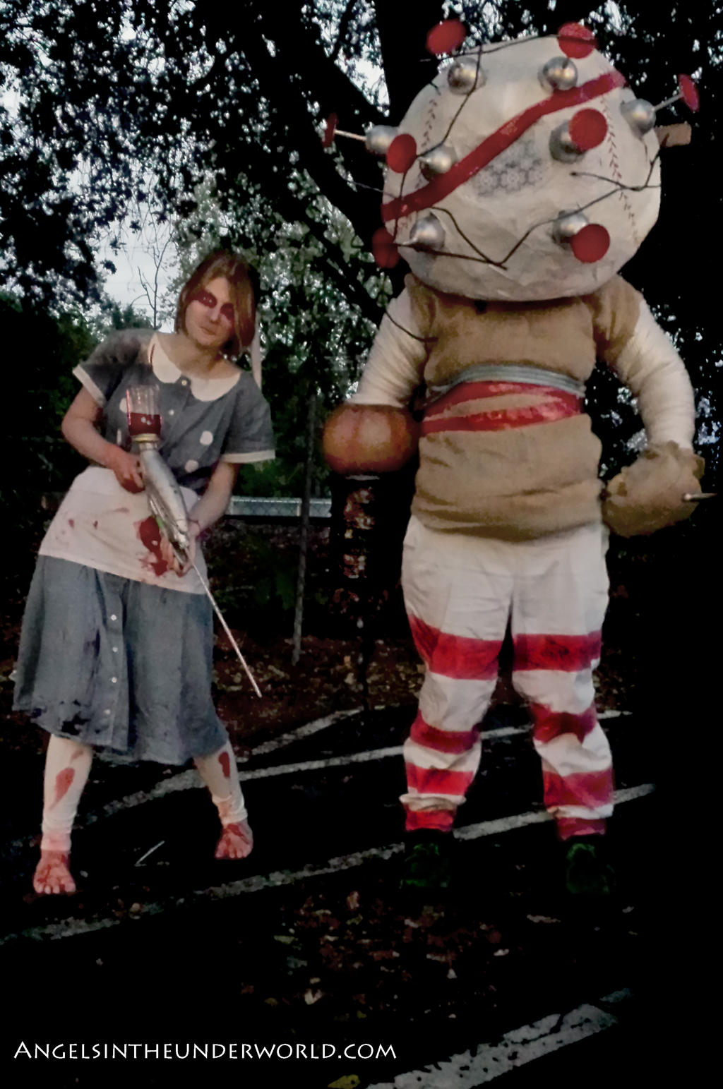 Big Daddy Doll And Little Sister Cosplay By Somekindofnobody