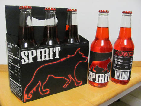 Spirit Soda-package and labels