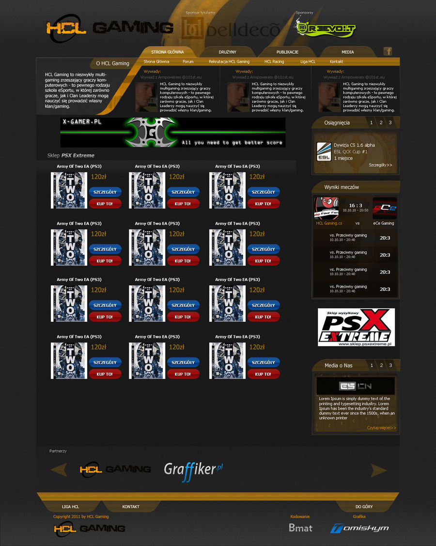 HCL Gaming Layout 2011
