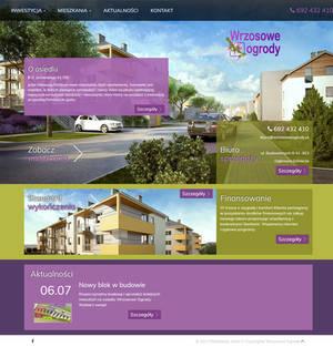 Wrzosowe Ogrody - Residental area Website