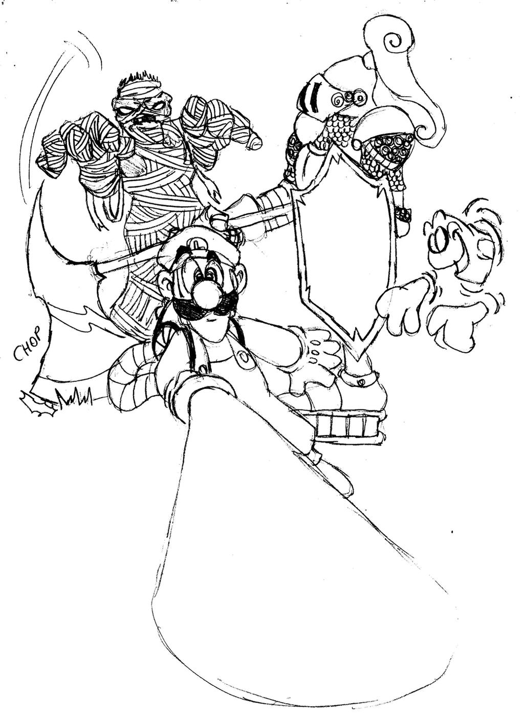 Luigi Haunted Mansion Coloring Page Www Topsimages Com