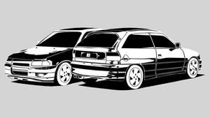 Opel Astra GSi16v vector
