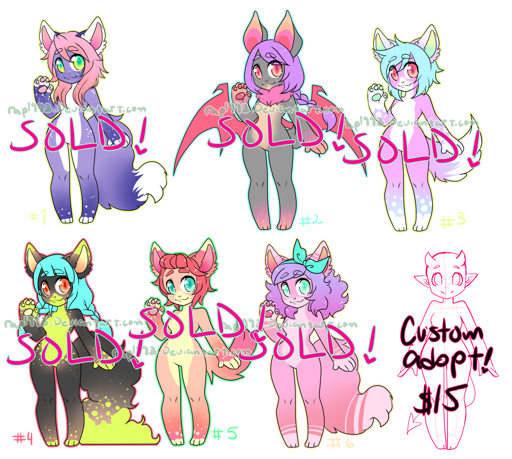 Furry Adopts CLOSED! by rap1993