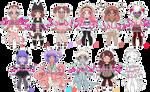 HUGE set of Monster Girls 2 CLOSED