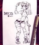 Inktober Day: 12 - Zombie