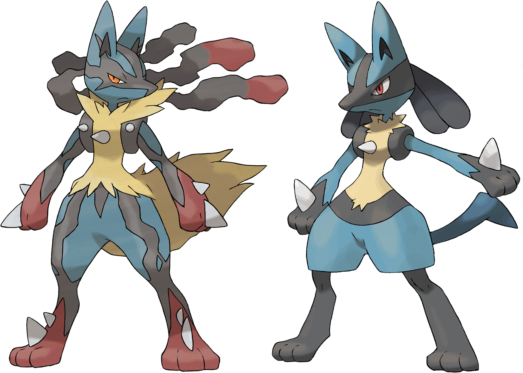 Lucario And Mega Lucario By Frie-Ice On DeviantArt