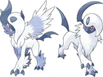 Absol And Mega Absol