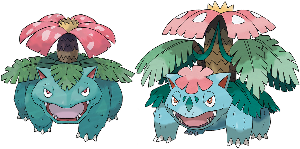Venusaur and mega venusaur by frie ice on deviantart - Pokemon florizarre ...