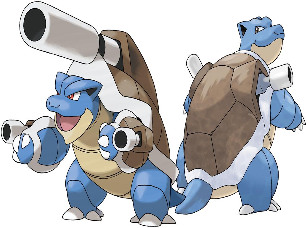 Blastoise and mega blastoise by frie ice on deviantart - Pokemon tortank mega evolution ...