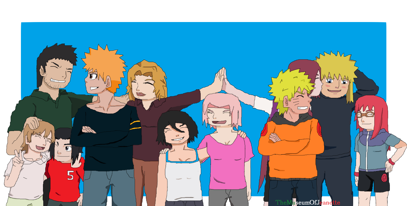 Families ~ Naruto and Bleach by TheMuseumOfJeanette
