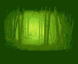 Bamboo Forest - pixel art