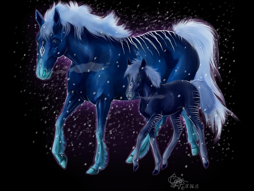 ice_horse_by_bluefox2512-d6djpb4.png (1024×769) | Winter ...
