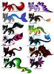 New Adoptables- Tail Wonders!