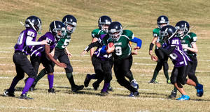 Running the ball by ciseaux