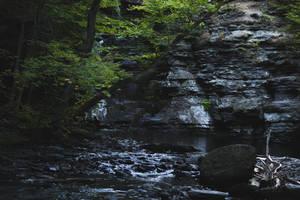 wet rock wall by ciseaux