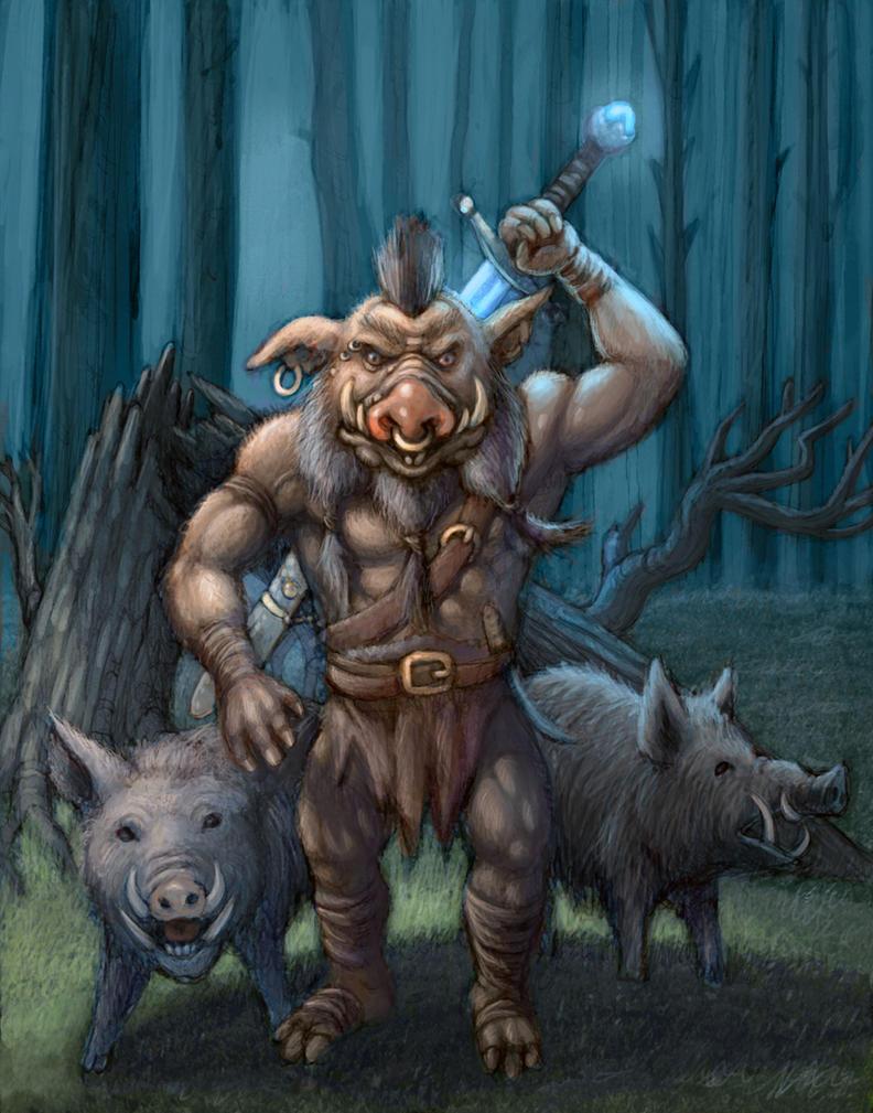 Pig Warrior by elldog00