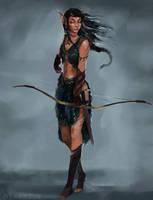 Crowshot - The Wild Elf by aymeezus