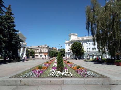 Square named after Sergei Korolev in Zhytomyr.