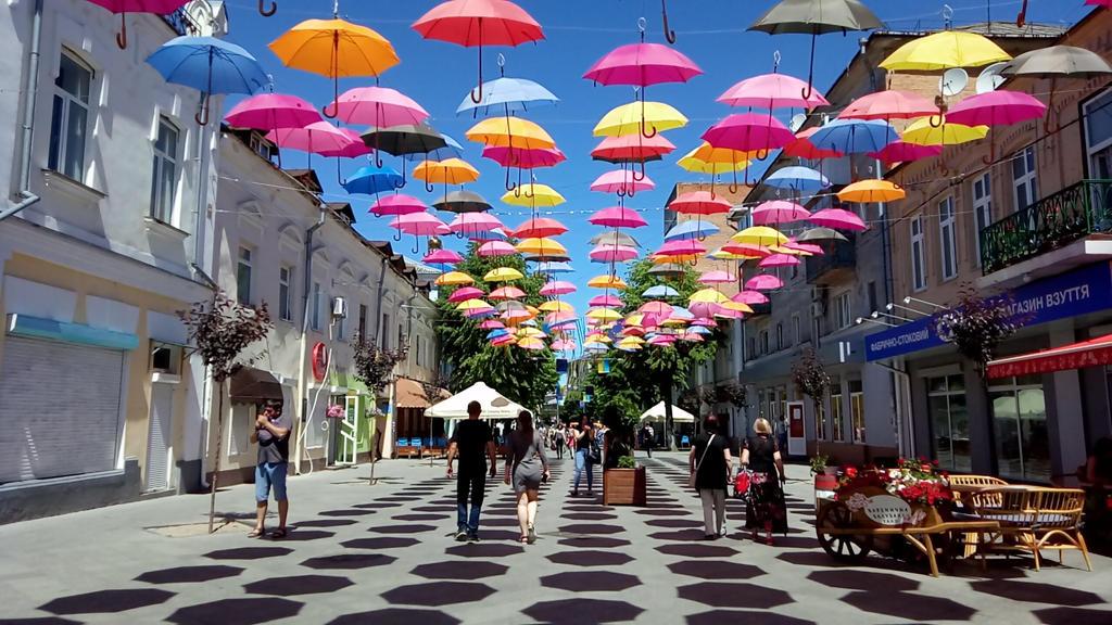 Mikhailovskaya street in the city of Zhytomyr