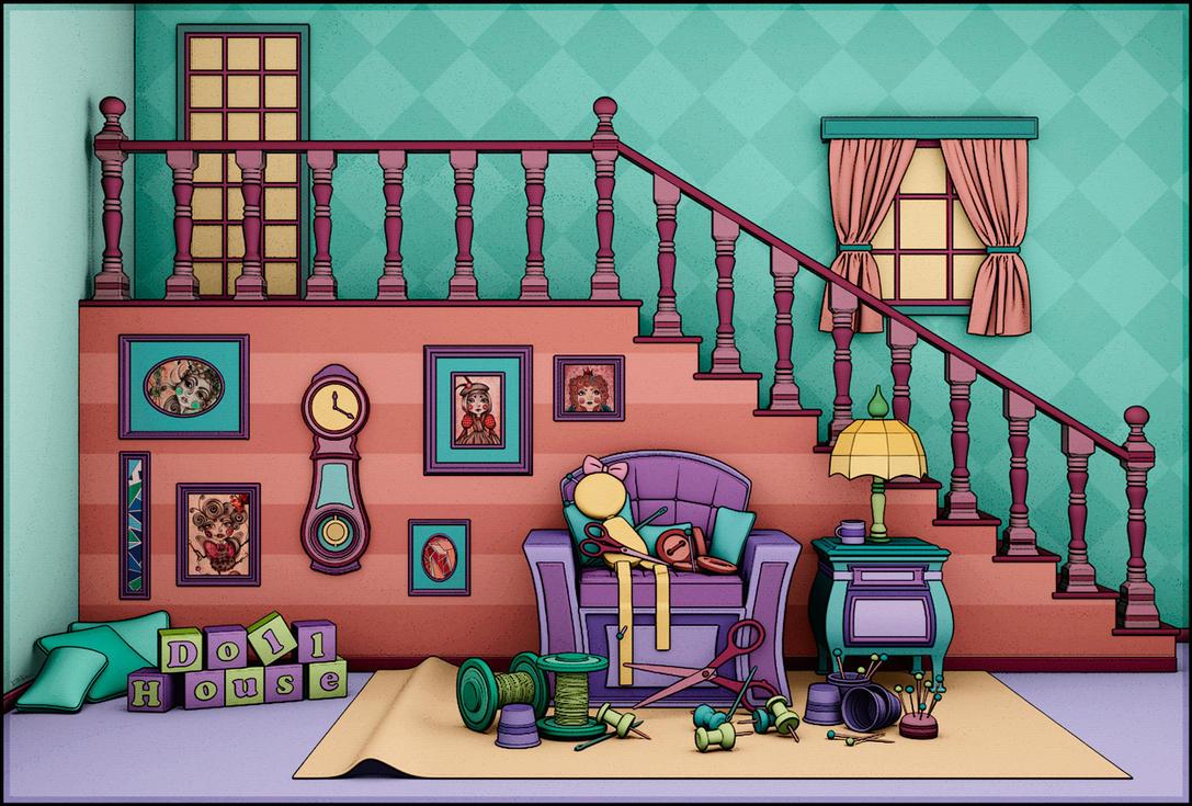 Doll House - 2d by Ventapane