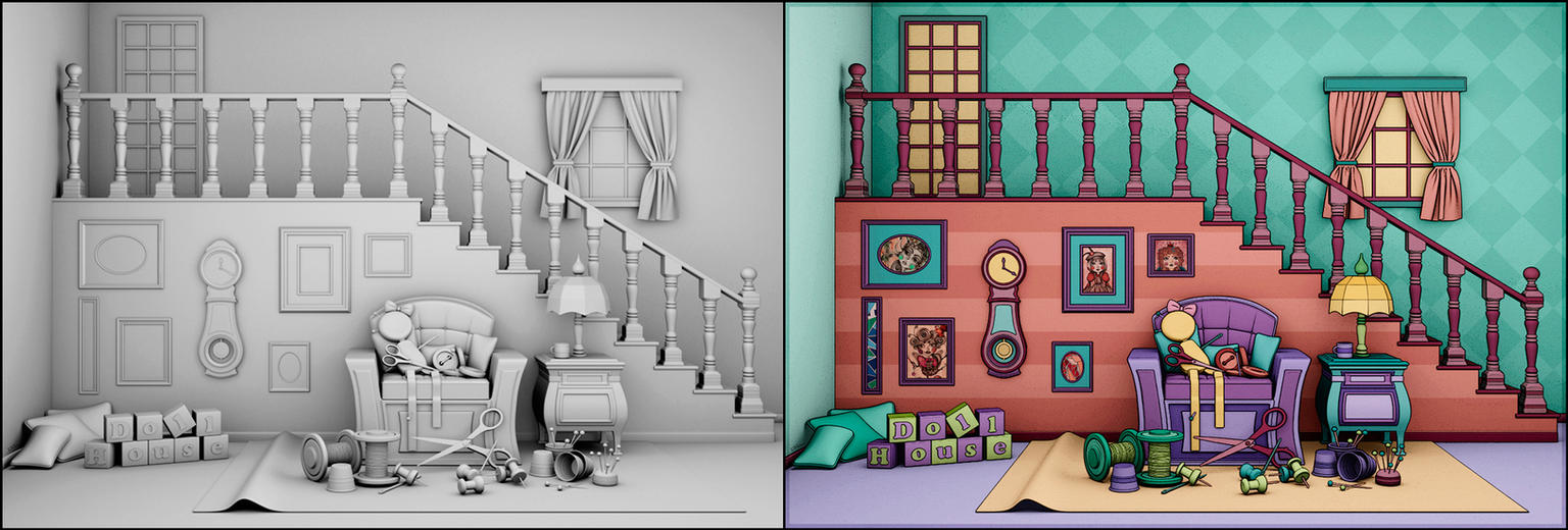 Doll House - 3d x 2d by Ventapane