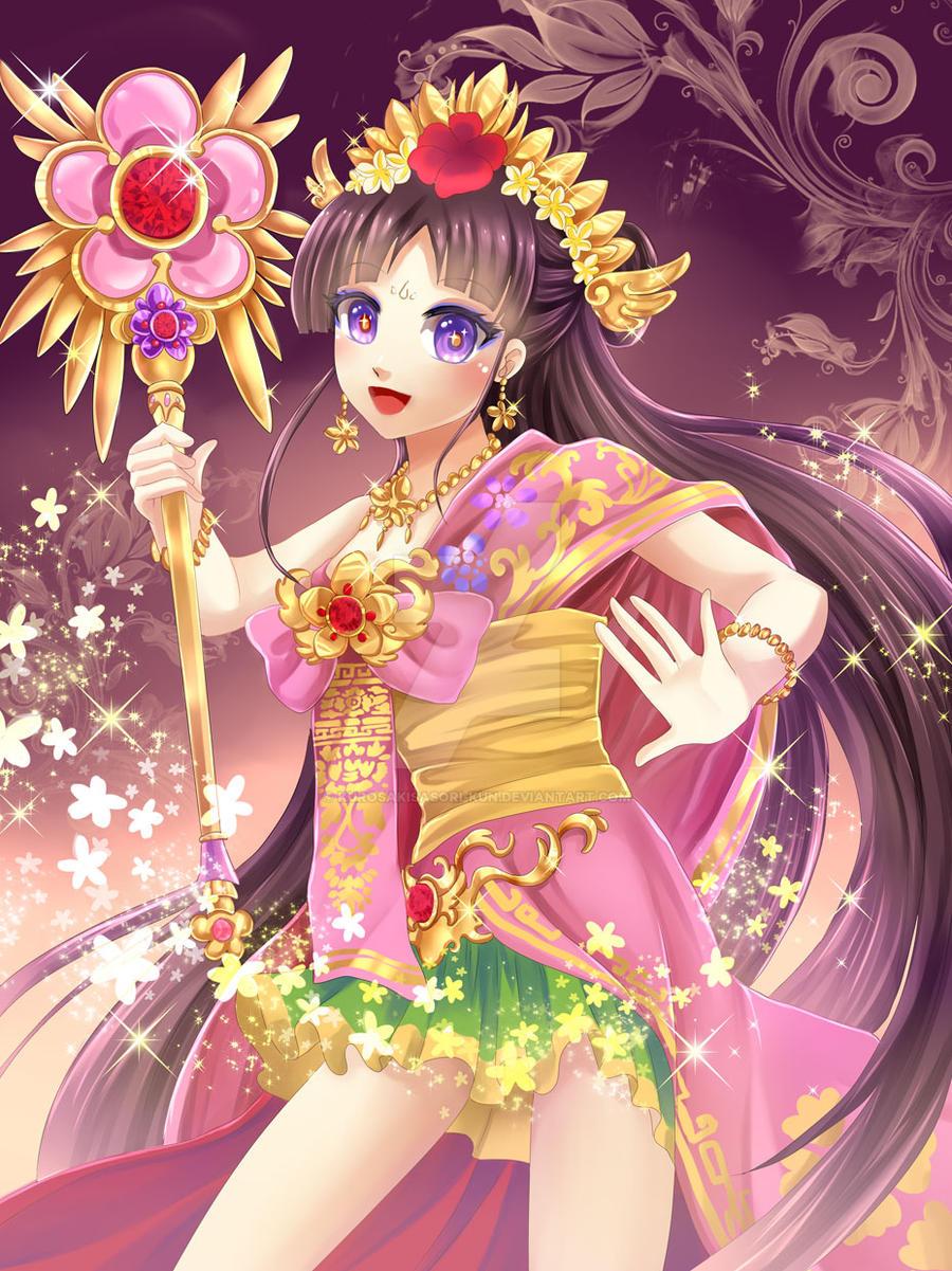 Balinese magical girl by KurosakiSasori-kun