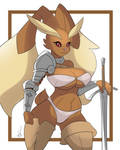 Fighter lopunny by QuakeBrothers