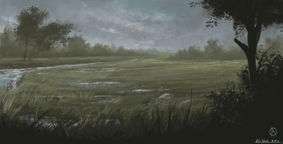 Melancholic moor by LandscapeRunner