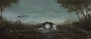 destroyed bridge by LandscapeRunner
