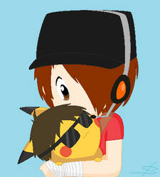 Scoutlox and PikachuDoesMinecraft by FeralFan2012