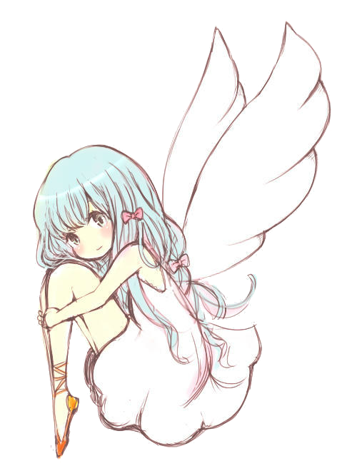 Anime Angel Girl Render by Feary-Bad-Day on DeviantArt