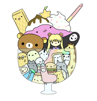 Kawaii Anime Cartoon Render by Feary-Bad-Day