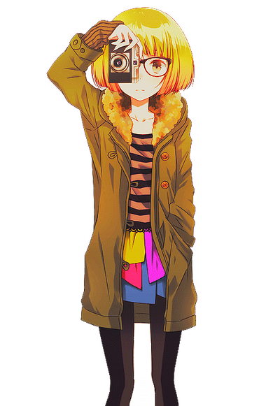 Anime Girl Render by Feary-Bad-Day