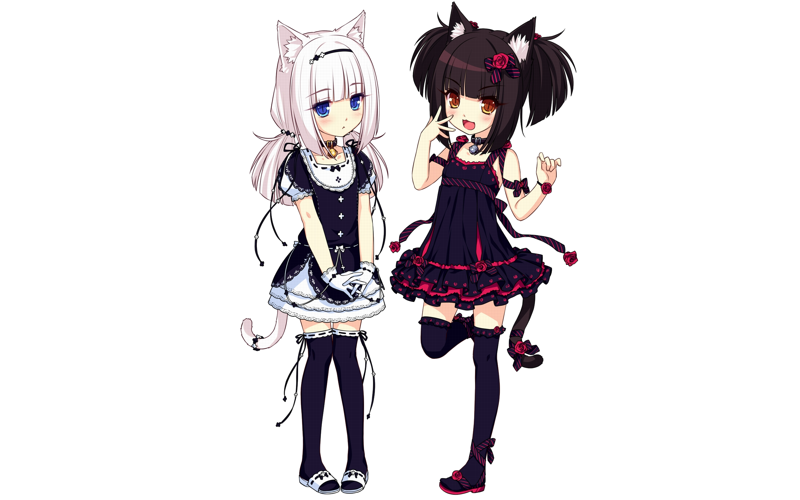 Choco and Vanilla Render (Neko Bible) by Feary-Bad-Day on DeviantArt