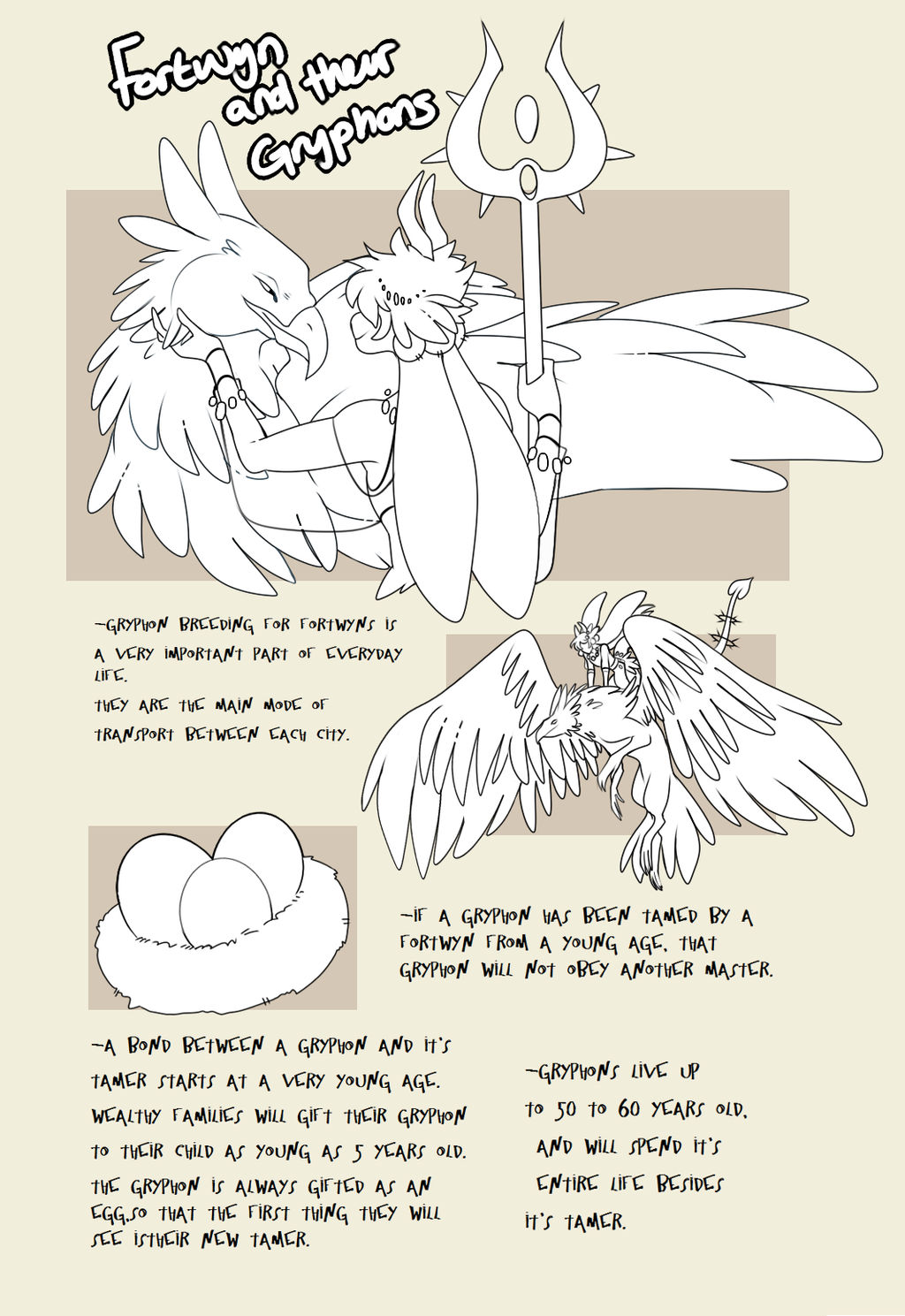 Fortwyn and their gryphons